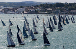 Rolex Fastnet Race start off Cowes, England