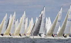 J/80s sailing SPI Ouest France