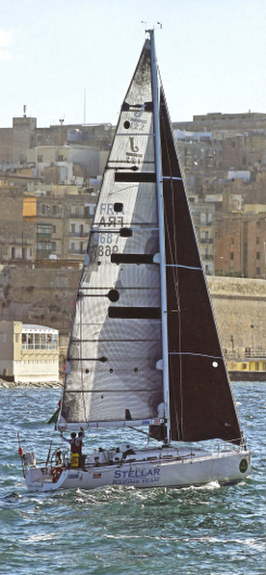 J/122 Stellar Racing Team- finishing Rolex Middle Sea Race