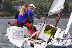 Danish J/70 woman skipper winning