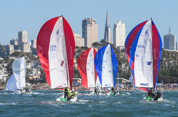 J/70s sailing San Francisco Bay