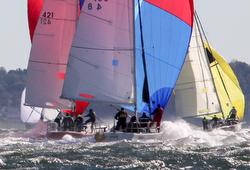 J/105s sailing NA's off Larchmont