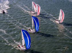 J/70s sailing British Sailing League finale