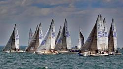 J/24s sailing upwind