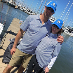 Molly and John Baxter sailing Vineyard Vines