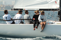 J/70 Italy team sailing Barcelona, Spain