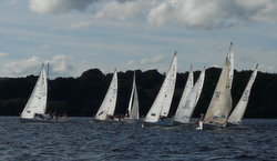 J/24s sailing Ireland lakes