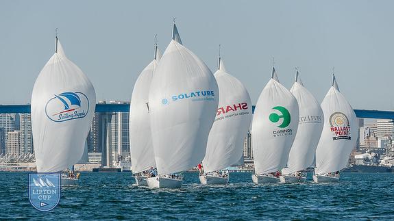 J/105s sailing Lipton Cup- San Diego, CA