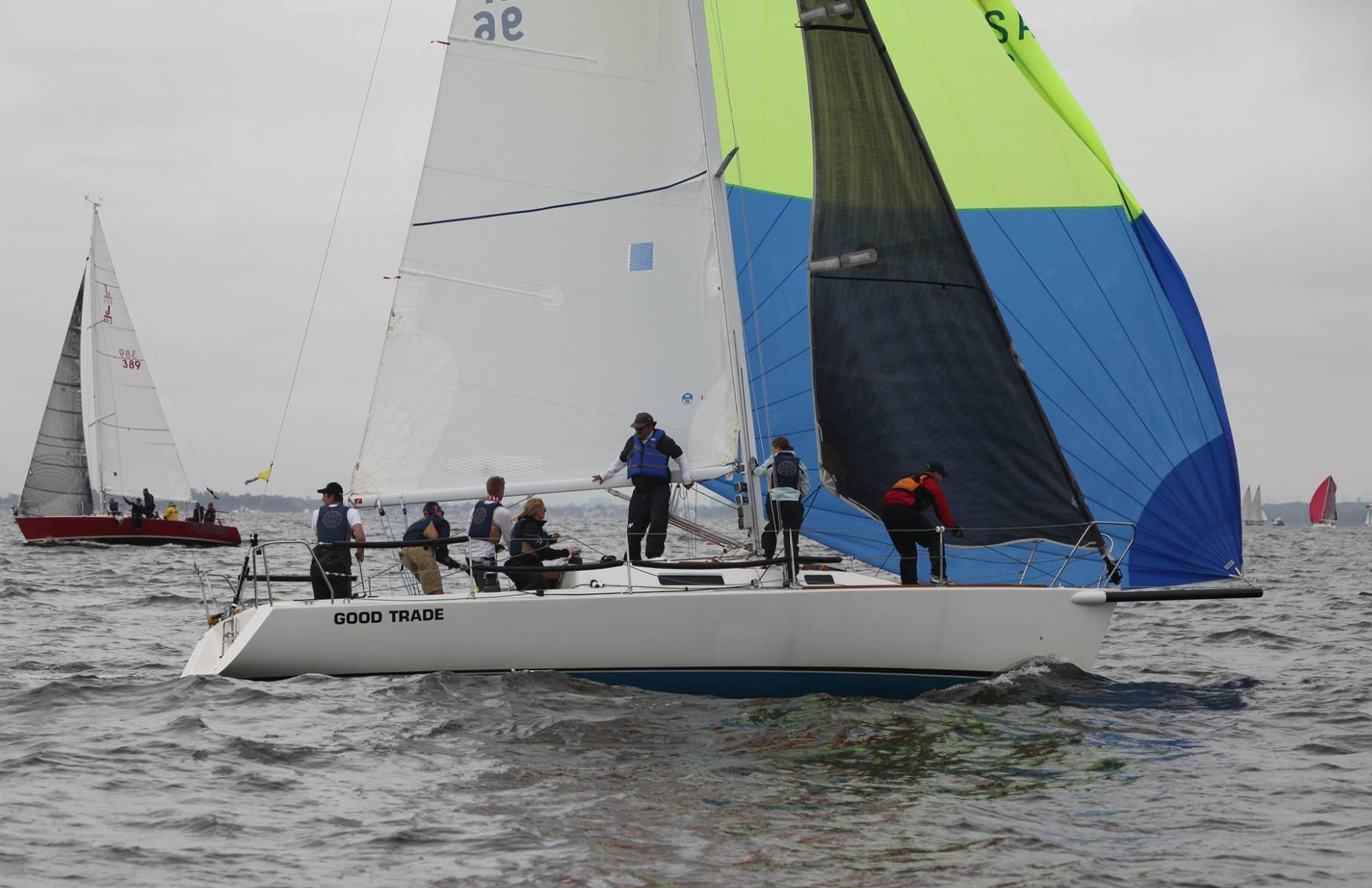 J/105 Good Trade sailing college big boat