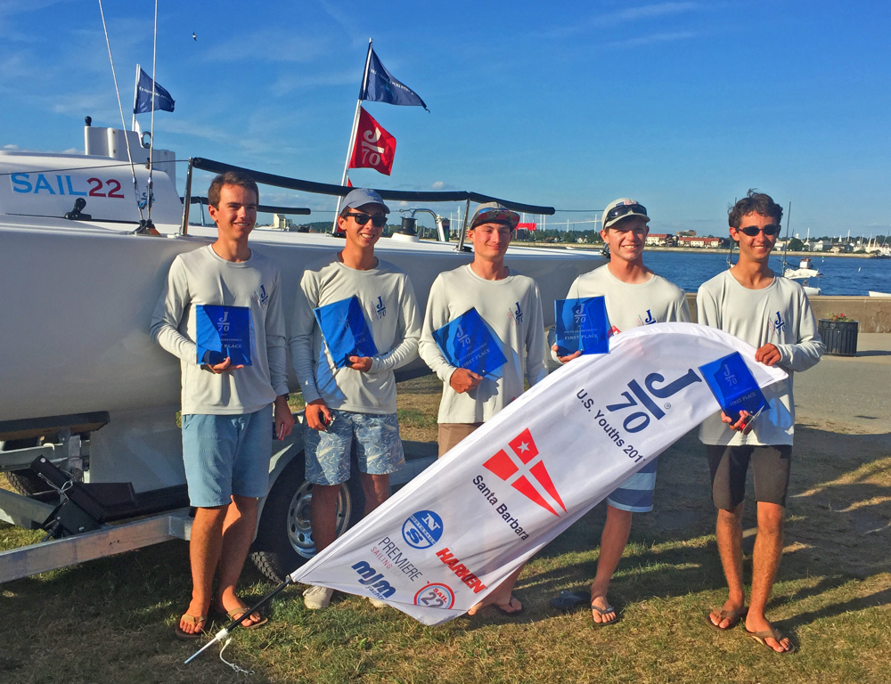 J/70 Youth Champs winners- Santa Barbara YC