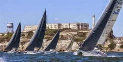 J/120 fleet sailing Rolex Big Boat Series in San Francisco