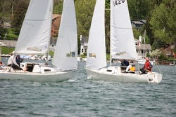 J/22s sailing on Canandiagua Lake, NY