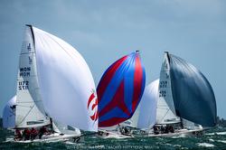 J/70s sailing fast downwind