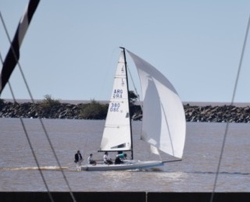 J/70 sailing off Buenos Aires, Argentina
