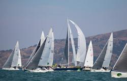 J/105s sailing Rolex Big Boat Series
