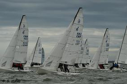 J/70s sailing Hamble Winter Series