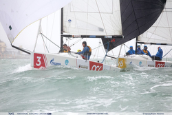 Russian J/70s sailing downwind under spinnaker
