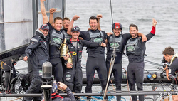 Ben Ainslie's America's Cup AC45 Land Rover BAR team winners
