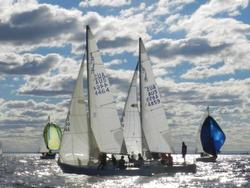 J/24s sailing off Melbourne, Australia
