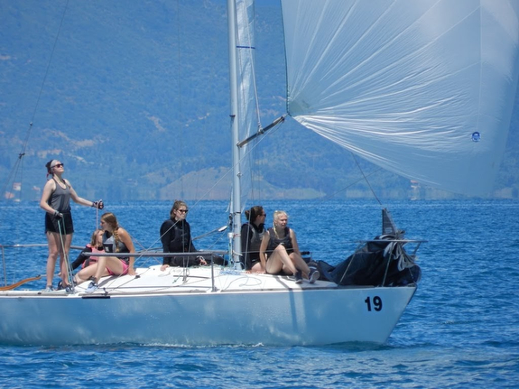 J/24 women's team at Europeans in Patras, Greece