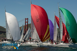 J/105 spinnakers at JFest San Francisco