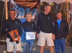 Rossi Milev and crew of Clear Air- J/24 Worlds Newport