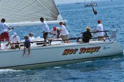 J/120 sailing Bayview Mackinac race- Hot Ticket