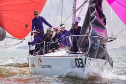 J/24 women's sailing team- La Punta, Peru