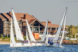 J/70s sailing league in Russia, northwest of Moscow
