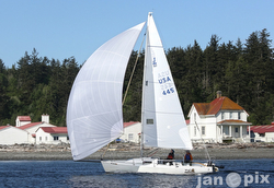 J/80 sailing Race to Straits regatta- Seattle