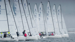 J/70s sailing Newport Regatta