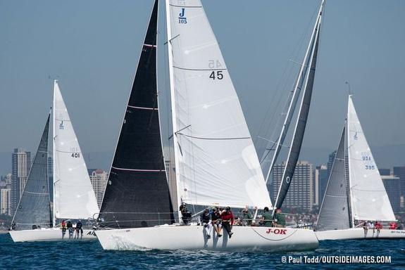 J/105s sailing Helly Hansen NOOD Regatta- San Diego