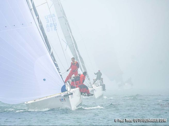 J/88s sailing Chicago NOOD regatta