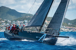 J/121 at mark- St Maarten Heineken Regatta