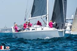 J/120 Pole Dancer sailing off Newport Beach