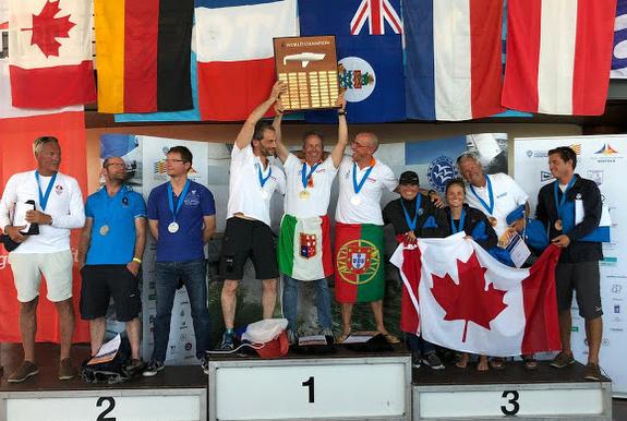 J/22 World Championship podium 2019