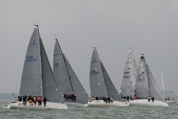 J/88s sailing on Solent- Warsash Spring Series