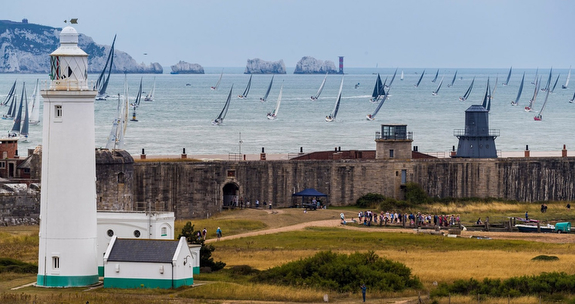 The Needles at Fastnet Race start