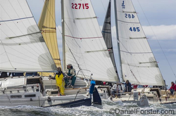 J/30s sailing Cedar Point YC North Americans