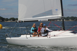 AYC Girls team- sailing J/70 Women's World Championship
