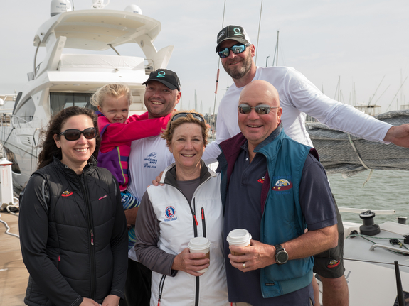 Rob Ruhlman's family sailing J/88 at Charleston