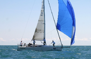 J/109 sailing Verve Cup offshore of Chicago