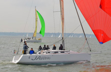 J/109s sailing Warsash Spring series on Solent