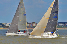 J/109s sailing Warsash spring series