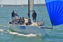 J/111 sailing on Solent in Warsash Spring series