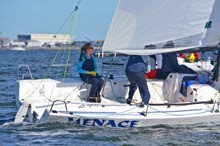 J/70 women sailing team- on Tampa Bay