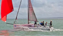 J/88 sailing on Solent in UK