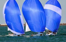 J/80 spinnakers- sailing off Key West