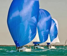 J/80s sailing in formation- Key West, FL