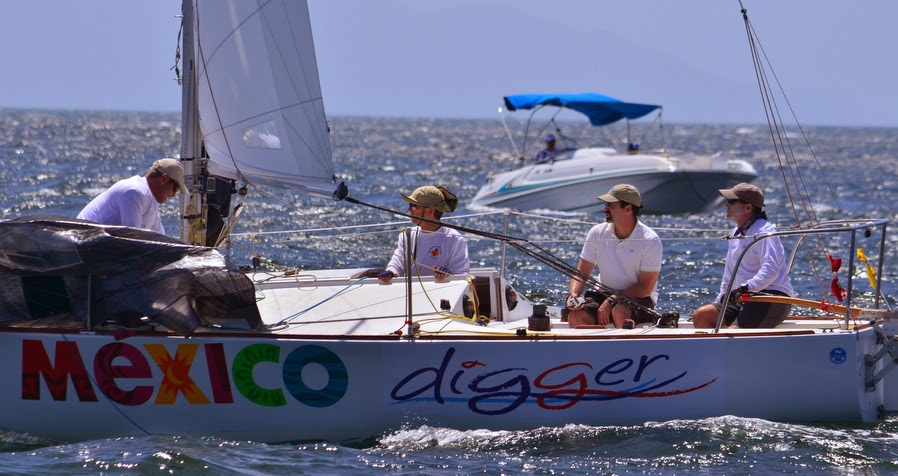 J/24 sailors- Mike Ingham and Tim Healy sailing Puerto Vallarta, Mexico